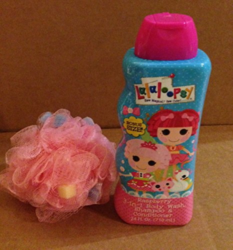 Lalaloopsy 3in1 Body Wash, Shampoo, Conditioner with One Bath Sponge Puff