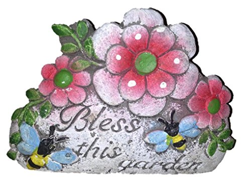 Cute Garden Stones with Flowers (one Stone) Bless This Garden