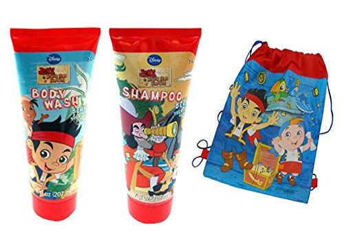 Disney Jr. Jake and the Neverland Pirates 2 Pc. Boys Bath Time Gift Set - Plus Bonus Jake Over The Sholder Sling Bag!
