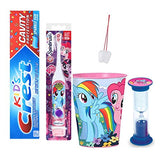 "My Little Pony""Rainbow Dash"" 4pc. Bright Smile Oral Hygiene Set! Spin Toothbrush, Toothpaste, Timer & Rinse Cup! Plus""Remember To Brush"" Visual Aid!"