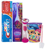"Shimmer And Shine Inspired ""Shimmer"" 4pc Bright Smile Hygiene Set! Turbo Toothbrush, Toothpaste, Timer & Rinse Cup! Plus Bonus Tooth necklace"