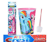 My Little Pony 3pcs Bright Smile Oral Bundle! Pinkie Pie Manual Toothbrush, Toothpaste & Rinse Cup! Plus Bonus Tooth Necklace!
