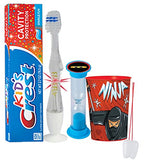 """Ninja Warrior"" Inspired 4pc Bright Smile Oral Hygiene Set! Flashing Lights Toothbrush, Toothpaste, Brushing Timer & Cup! Plus Bonus Tooth Necklace"