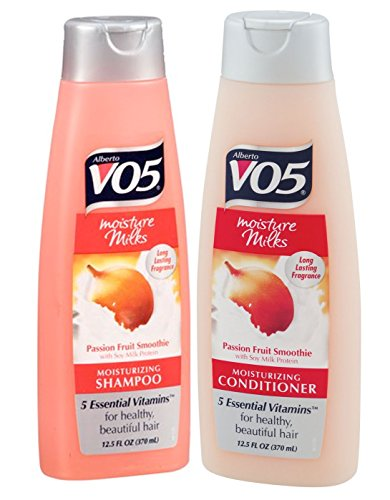 Alberto VO5 Moisture Milks Moisturizing Shampoo and Conditioner Set - Passion Fruit Smoothie - 12.5 fluid oz.