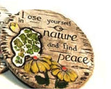 "Inspirational Spring Mosaic Outdoor Garden Decorative Stepping Stones, 7"" Inch Pack of 1 (Loose Yourself in Nature and Find Peace)"