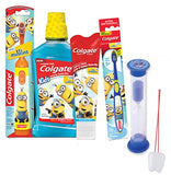 Despicable Me Minions 5pc All Inclusive Bright Smile Oral Hygiene Gift Set Toothbrushes, Toothpaste, Mouthwash & Timer! Plus Visual Aid