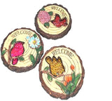 Stepping Stone says Welcome with Bird and Flower (set of 3)