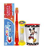 Disney Mickey Mouse Club House Inspired 4pc Bright Smile Hygiene Set! Light Up Toothbrush, Toothpaste, Timer & Cup! Plus Tooth Necklace!