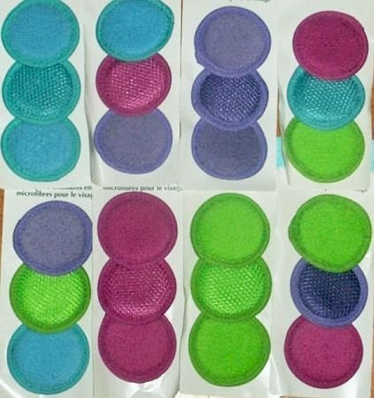 April Microfiber Facial Scrubbers - 3 Per Pack by Bayside Betty/fortin BEAUTY