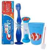"""Finding Nemo"" Clown Fish Inspired 4pc Bright Smile Oral Hygiene Set! Soft Toothbrush, Toothpaste, Timer & rinse Cup! Plus Bonus Tooth Necklace"
