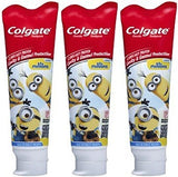 Colgate Minions Mild Bubble Fruit Fluoride Toothpaste, 4.6 oz (Pack of 3)