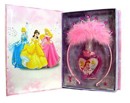Disney Princess Jewelled Perfume Set with Spray, 2.5-Ounce