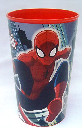 Boy's Spider-Man Bath Bundle: 4 Items: Spider-Man 2-in-1 Shampoo, Spider-Man Toothbrush, Magic Washcloth & Spider-Man reusable plastic cup
