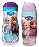 Disney Frozen Body Wash, Shampoo, Conditioner & Bubble Bath Bundle: 2 Items; Frosted Berry 3-in-1 Shampoo, Frosted Berry Bubble Bath