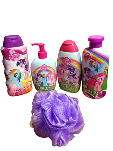 My Little Pony Bath & Body Bundle -5 Items with Bonus Bath Sponge (Purple)