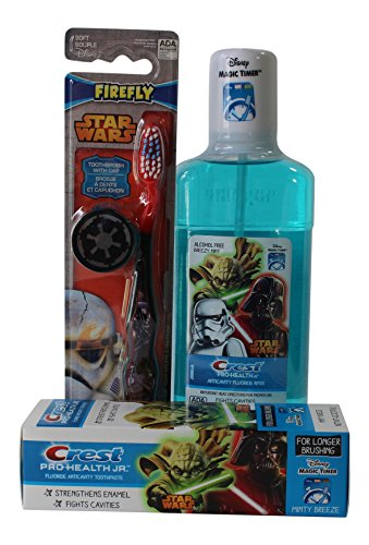 Star Wars Darth Vader Toothbrush, Crest Pro-Health Mouthwash & Toothpaste Bundle