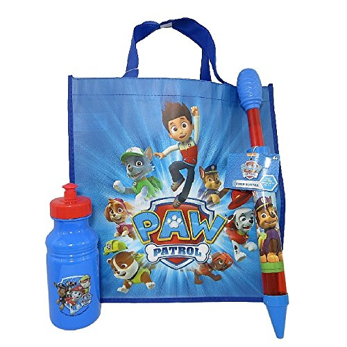 Paw Patrol Water Play Set with Water Blaster, Water Bottle and Tote Bag