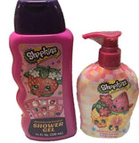 SHOPKINS BATH CARE BUNDLE of 2 shower gel and Hand soap