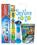 Justice League Aquaman Inspired 4pc Bright Smile Oral Hygiene Bundle! Light Up Toothbrush, Toothpaste, Timer & rinse Cup! Plus Bonus Tooth Necklace