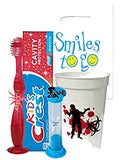Zombie Apocalypse Inspired 4pc Bright Smile Bundle! Light Up Toothbrush, Toothpaste, Timer & Cup! Plus Tooth Necklace