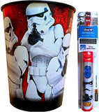 Star Wars The Force Awakens Oral Hygiene Children's Powered Toothbrush with Star Wars Mouth Wash Rinse Cup (Stormtrooper)