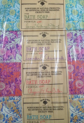 Bolero Bath collection pure Vegetable soap (Variety Pack of 4 )