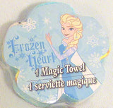 Frozen Character Pop-Up Magic Towel Wash Cloth Set with Bin Ages 3+ (4 Pack per Set)