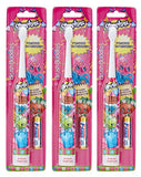 Shopkins Brush Buddies Kid's Battery Powered Toothbrushes - Set of 3 - Batteries Included