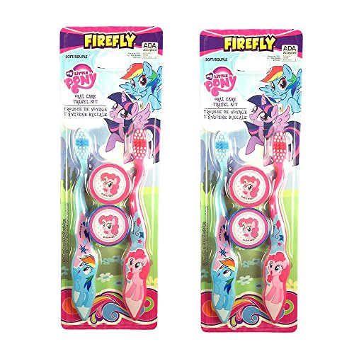 Firefly My Little Pony Toothbrush Oral Travel Care Set (Pack of 4)