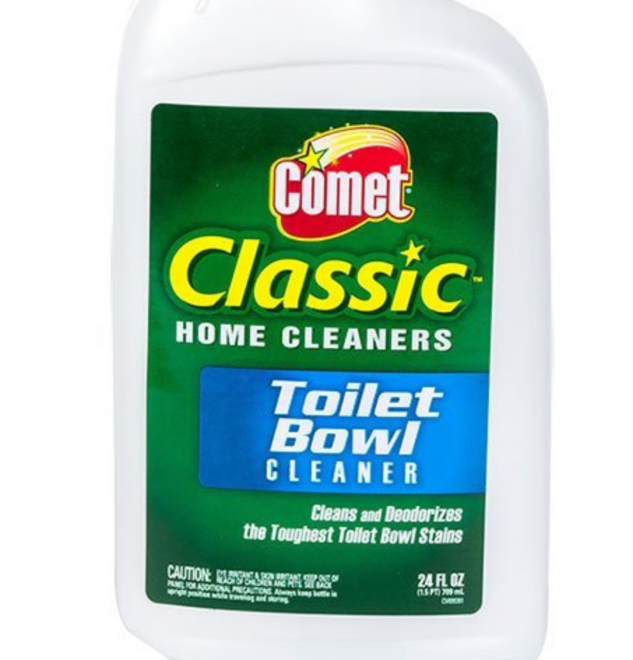 2 Comet Multi-Surface Spray Cleaner, Meadow Fresh, 1 Comet Disinfectant Cleanser and 2 Comet Classic Home Cleaners Toilet Bowl Cleaner, Bundle (5)