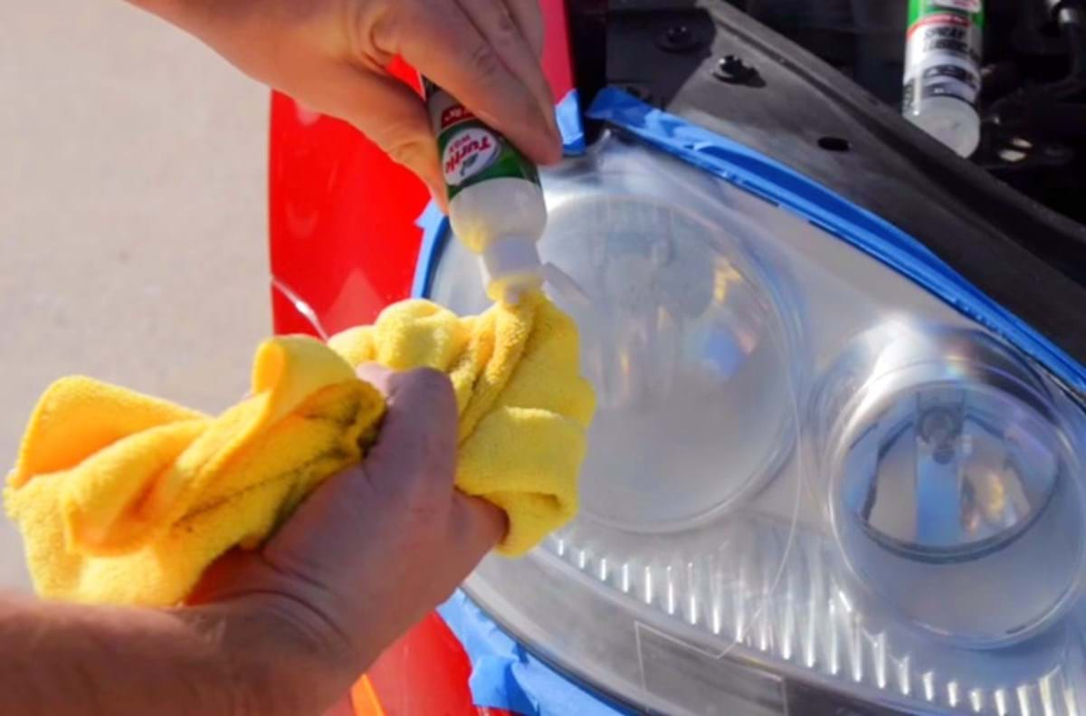 how-to restore headlights - turtle wax - dry headlight lense