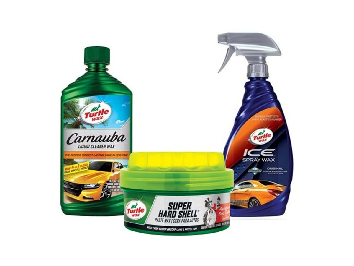 different types and formulas of car wax sold by turtle wax