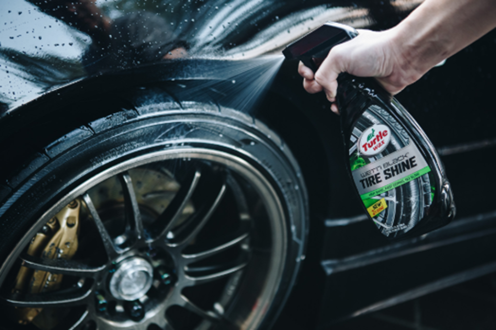 how-to check tire pressure turtle wax wet'n black tire shine