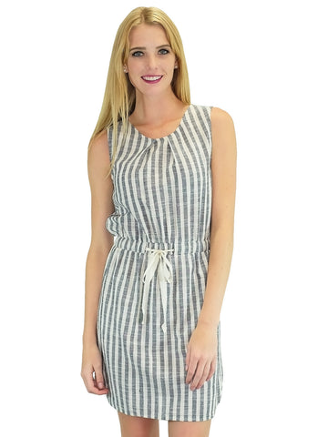 Cotton Grey Striped Dress
