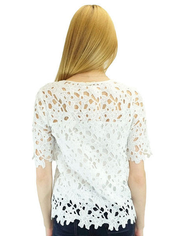 Relished Annaliese White Lace Blouse