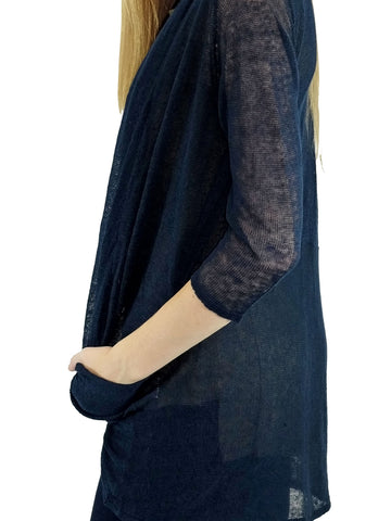 Relished Black Candace Pocket Cardigan