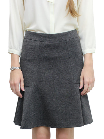 Relished Blanchette Grey Flared Skirt