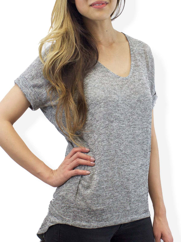 Jolie Grey Coffeehouse Sweater Tee
