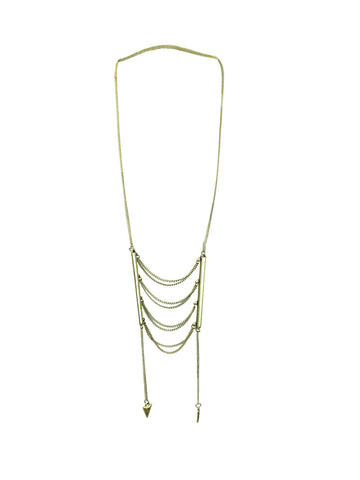 Genevieve Gold Ladder Necklace