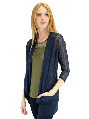 Relished Navy Candace Pocket Cardigan