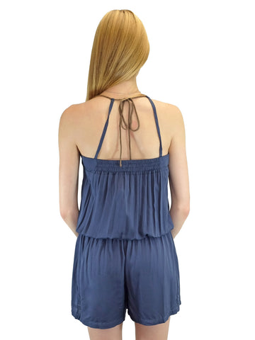 Relished Capucine Navy Short Playsuit