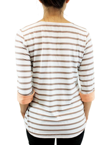 Relished Parisienne Chic Striped Top