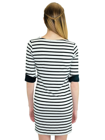 Relished Striped Shirt Dress