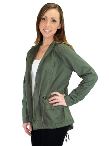 Relished Marin County Green Hooded Utility Jacket