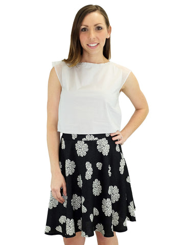 Relished Lucy Black Swing Skirt