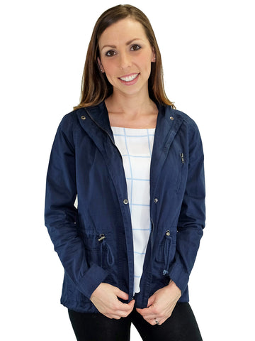 Relished Marin County Navy Hooded Utility Jacket