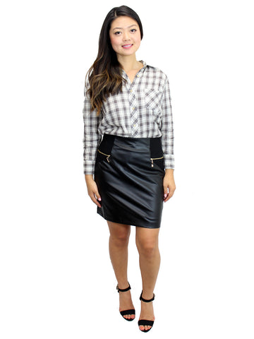 Relished Lennox Alley Faux-Leather Skirt