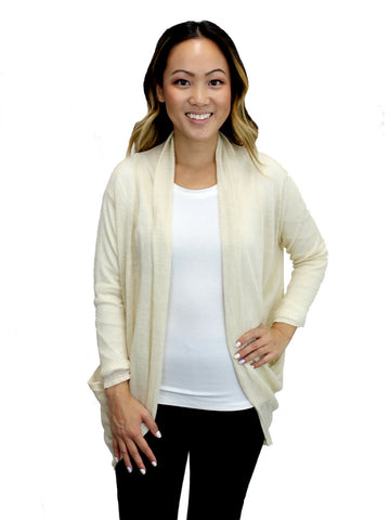 Relished Cream Candace Pocket Cardigan
