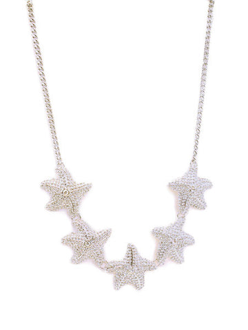 Starfish Cluster Necklace Set