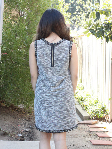 Grey Sleeveless Pocket Sweater Dress